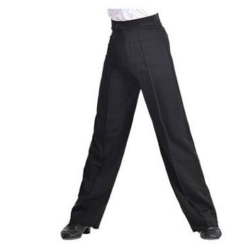 New Arrival Discount On Sale Black Satin Boys or Men Latin Modern Ballroom Performance Dance Pants