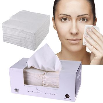 100Pcs Disposable Non-woven Makeup Cotton Pads Super Soft Face Towel Face Eye Makeup Removal Cleansing Cotton Pads