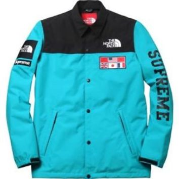 NEW Supreme S/S 14 North face expedition coaches jacket size medium teal tnf pcl
