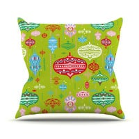 "Miranda Mol ""Ornate Green"" Ornaments Throw Pillow"