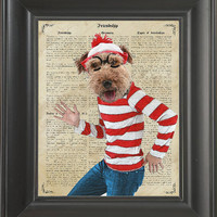 Where is the waldo dog  - Printed on Freiendship page  -  250Gram paper.