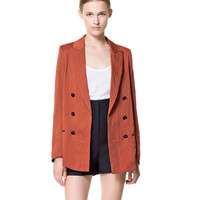 LONG DOUBLE BREASTED JACKET - Blazers - Woman - New collection | ZARA United States