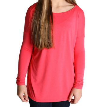 Hot Pink Piko Kids Long Sleeve Top