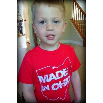 Made in Ohio Red Toddler T-Shirt