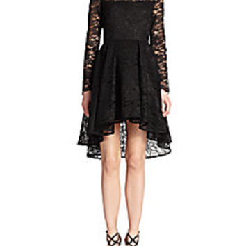 ABS - Hi-Lo Lace Cocktail Dress - Saks Fifth Avenue Mobile