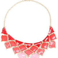 ROMWE Gradient Red Pendant Necklace