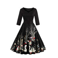 Plus Size Swan Dress