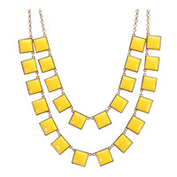 Fashion Double Strands Necklace Fantasy Resin Jewelry Choker Jewelry