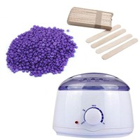 [3 in 1 Bundle] OpulentHer™ Wax Warmer + Lavender Wax Beans 100g + 20 Wooden Waxing Spatulas
