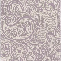 Queensland Floral and Paisley Area Rug Purple