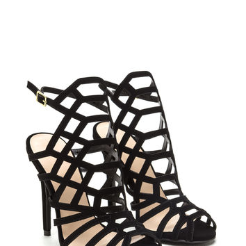 Latticed 'N Laddered Strappy Heels