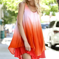 Fade Into Sunset Ombre Dress