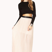 Chic Accordion-Pleated Maxi Skirt