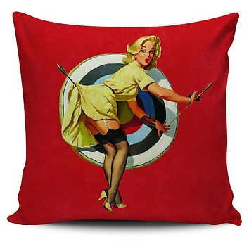 "Pinup Girl 18"" Pillow Covers"