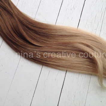 "Ombre Tape Hair Extensions//Victoria Secret Model//Medium Blonde Light Blonde Hair Extensions//(40) Pieces, 18""//Ready To Ship"