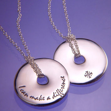 I Can Make A Difference Sterling Silver