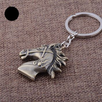 Fashion Alloy Animal Horse Head Key chain