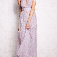 Purple Cut Out Front Strappy Back Maxi Dress