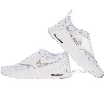 Women s Nike Air Max Thea Premium in White Cheetah Leopard print 8a6f840ce0