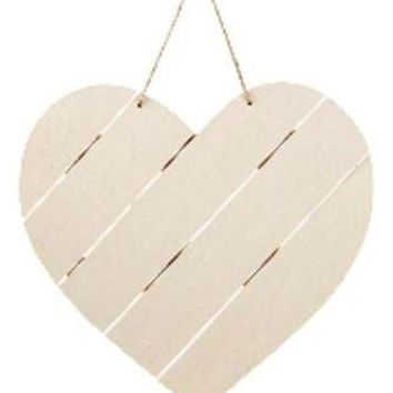 "Large Wood Pallet Heart-Shaped Sign with Jute - 11"" Tall x 11.75"" Wide"