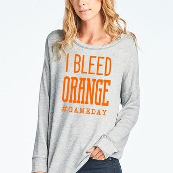 """I Bleed Orange"" Top"