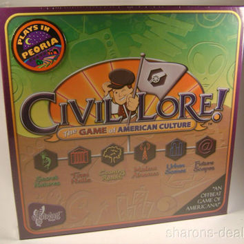 Civil Lore Board Game American Culture Evolving Toys 2-6 Players Teams Made USA