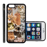 RCGrafix Brand The Cat Collage Cats Apple Iphone 6 Plus Protective Cell Phone Case Cover - Fits Apple Iphone 6 Plus