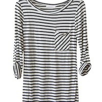 Stripes in My Stride Tunic, White