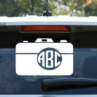 Monogram Circle Camera Car Decal