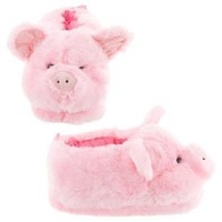 Pink Pig Animal Slippers for Women and Men Small
