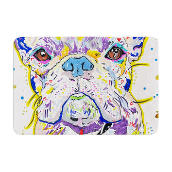 "Rebecca Fischer ""Niko"" French Bulldog Memory Foam Bath Mat"