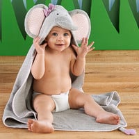 Splish Splash Elephant Bath Spa Hooded Towel