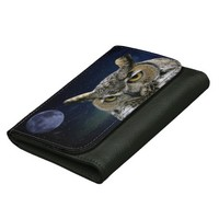 Owl Medium Faux Leather Wallet