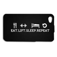 Cute Work Out Gym Cool Fitness Quote Funny Case iPhone iPod Black White Lift Fun