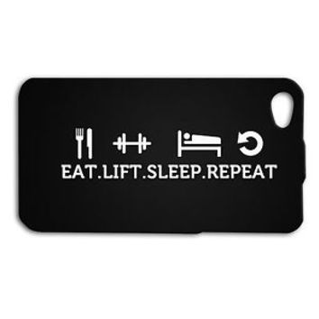 Cute Work Out Gym Cool Fitness Quote Funny Case iPhone 4 4s 5 5s 5c 6 6s + iPod
