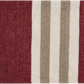 Surya Troy Traditional Woven Throw - Red