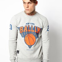 Criminal Damage Sweatshirt with Ballin' Print