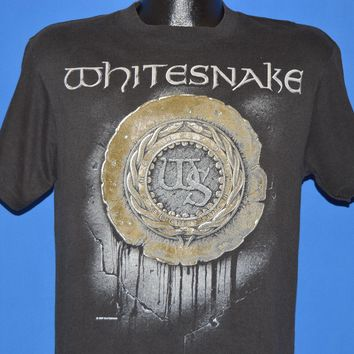 80s Whitesnake 1987 Tour Rock Band t-shirt Medium