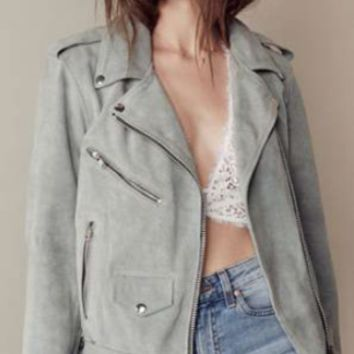 Moto Suede Jacket by For Love & Lemons | SHOPLUNAB