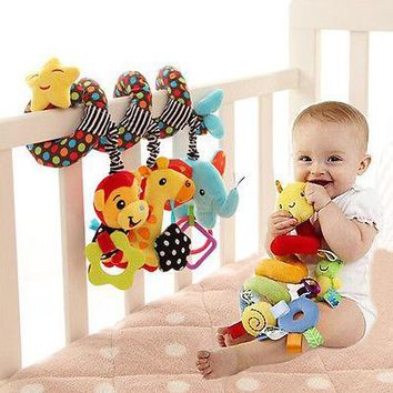 Baby Activity Spiral Bed Stroller Buggy Cot Car Soft Toy Infant Kids Plush Gift  Baby Toys