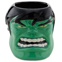 disney store ceramic marvel hulk sculptured coffee mug new with box
