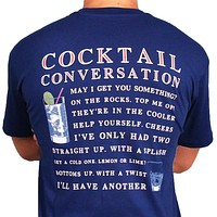 Cocktail Conversation Tee in Navy by Southern Proper - FINAL SALE