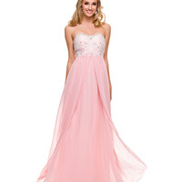 Bashful Pink Beaded Sweetheart Gown 2015 Prom Dresses