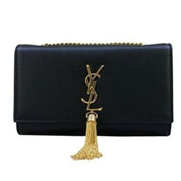 LMFON YSL Saint Laurent classic plain gold chain shoulder bag (large)