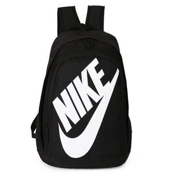 NIKE Fashion Letters Sports backpack (7 color) Sapphire Black(white letters)