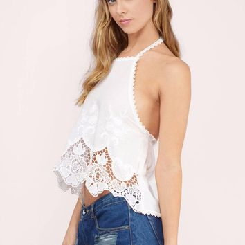 Sugarland Crochet Halter Top