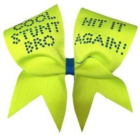 Chosen Bows Cool Stunt Bro Cheer Bow, Neon Yellow