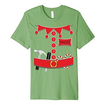 Head Elf Costume With Tool Belt Premium T-shirt