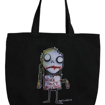 Never Trust The Living Agorables Tote Bag