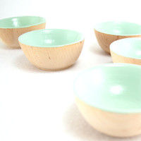Mint Wooden Mini Bowl - Green, Ring Bowl, Jewelry Bowl, Ring Cup, Hostess Gift